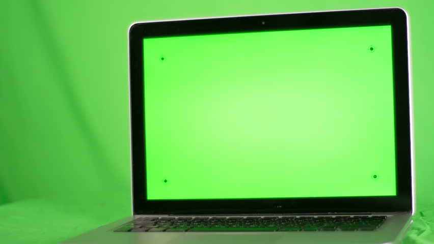 laptop with green screen. green screen background.Easy for tracking and keying / with tracking markers. | Shutterstock HD Video #8473114
