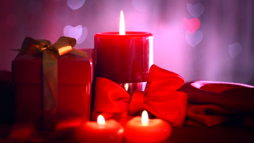 valentines day beautiful valentine scene with red hearts candles romantic dinner holiday table setting date beauty red valentines background