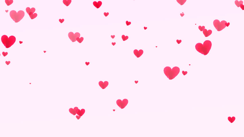 stock video clip of petal hearts falling on pink background shutterstock Paintbrush Clip Art Pastel Background