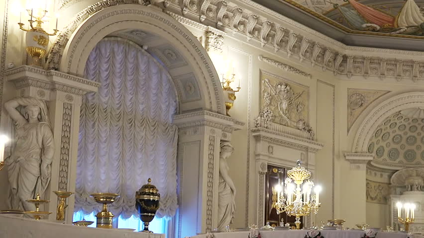 saint petersburg russia january 2015 rooms and interiors of the royal palace in pavlovsk a suburb of st petersburg stock footage video 8496604 - Royal Palace Interior Design