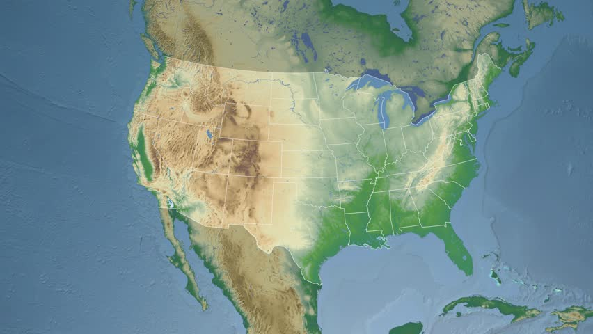 Louisiana Map Stock Footage Video Shutterstock - Physical map of louisiana