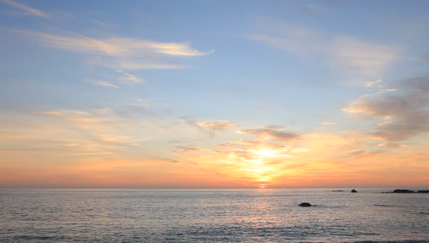 Dramatic romantic sunset over the Atlantic Ocean. #852514