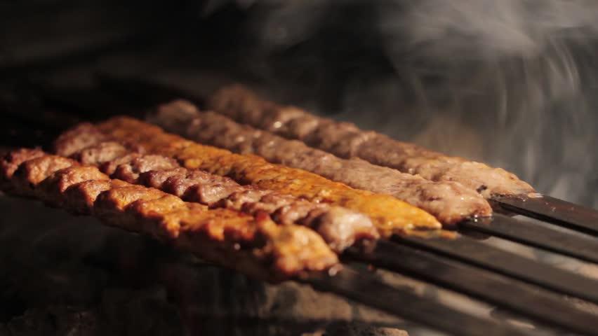 Barbecue grilling shish kebab 8