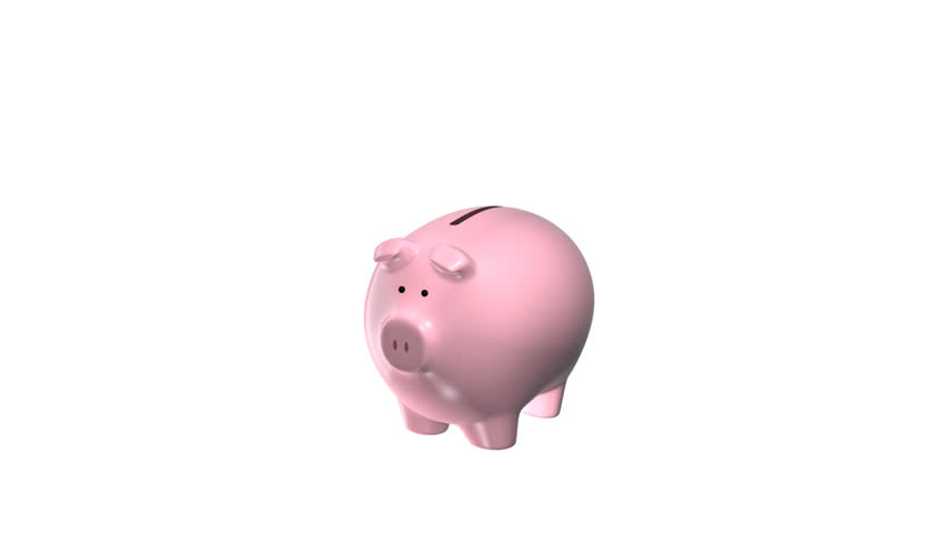 Stock Video Of Piggy Bank With Symbol Animation 85717