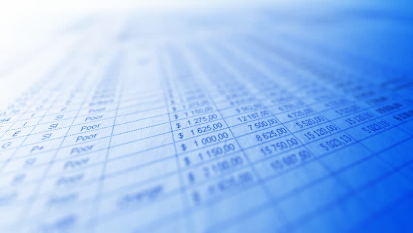 Business spreadsheet closeup with moving focal point. Shallow depth of field. Seamless loop. Readable words: Total, Potential, numbers, dollar symbols, all the rest out of focus. | Shutterstock HD Video #860314