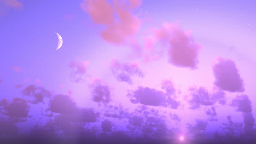Heavy Rain Clouds Before A Storm Time-Lapse, Dark Purple Cloudy Day To Night Sky. Purple Black ...