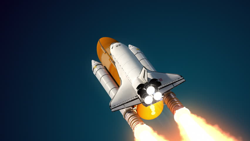 Space Shuttle Solid Rocket Boosters Separation. 3D ...