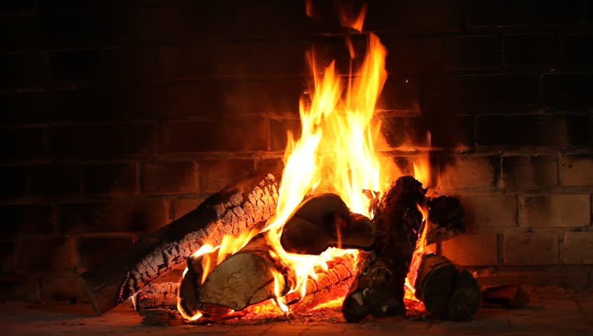 Burning Page In The Fireplace. HD 1080p Stock Footage Video ...
