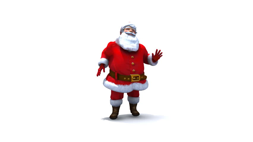 Santa Dancing Loop, Comes with Alpha.