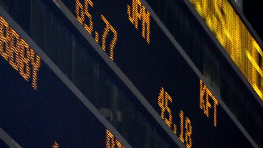 Stock Market LED Ticker Board | Shutterstock HD Video #872272