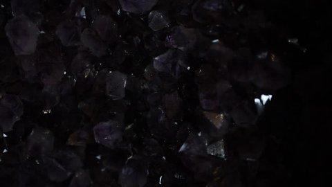 amethyst raw crystal light sweep