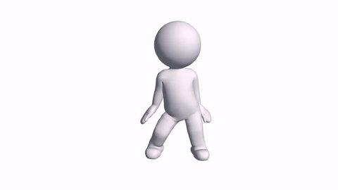 3D cartoon Singer character rap dance,comics people R&B hip-hop freestyle. cg_00935