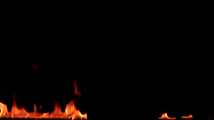 Fire flame isolated on black background. 8x slow motion | Shutterstock HD Video #884812