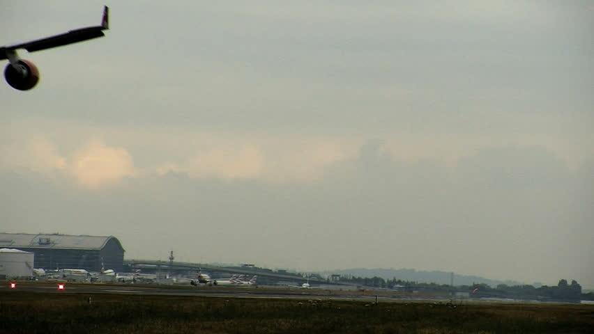 Plane landing at International Airport