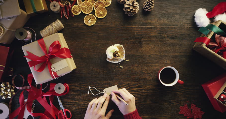 Christmas Top View.Top View Christmas Hands Writing Stock Footage Video 100 Royalty Free 8885614 Shutterstock