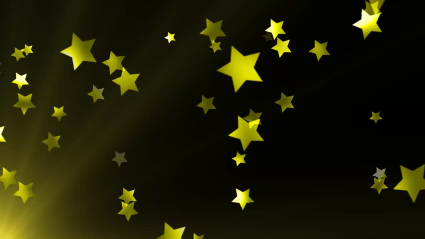 Black And Blue Stars Backgrounds Yellow Shooting...