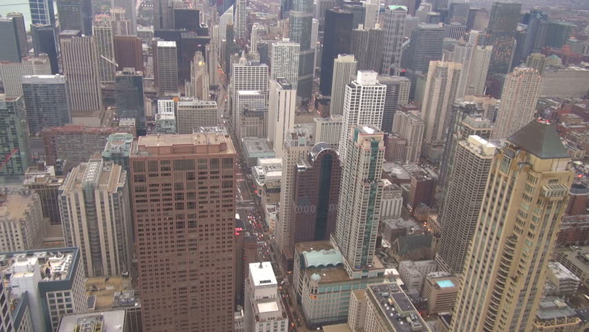 Timelapse of Chicago downtown with tall tower by day | Shutterstock HD Video #8940424
