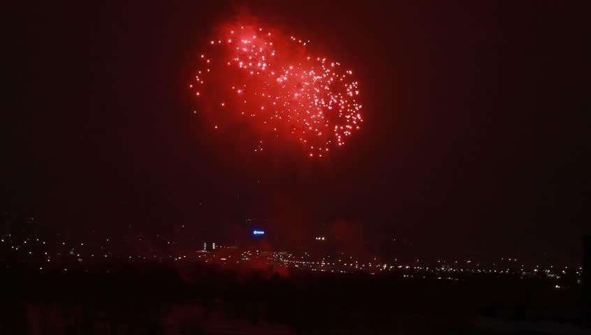 Multiple fireworks | Shutterstock HD Video #8940706