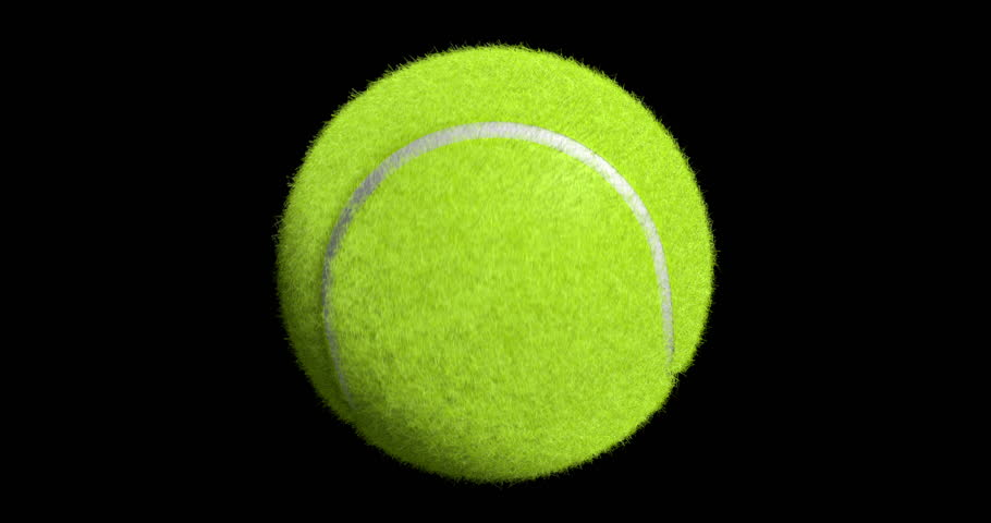 Tennis Ball Spinning On The Black Background Royalty Free Video