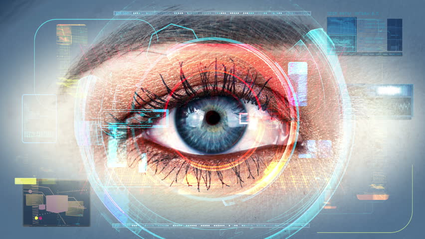 Human Eye Scan Technology Interface Animation 4K  | Shutterstock HD Video #8991526