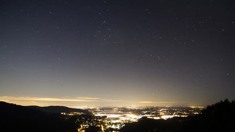 stars spin to create a tracing motion over the city of Issaquah Washington