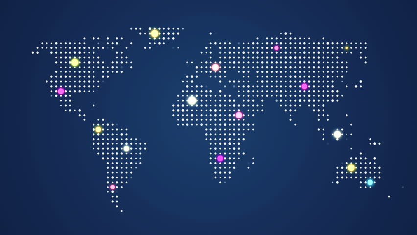 Abstract world map with route lines and colorful dots ideal for abstract world map with route lines and colorful dots ideal for technology broadcast background gumiabroncs Image collections