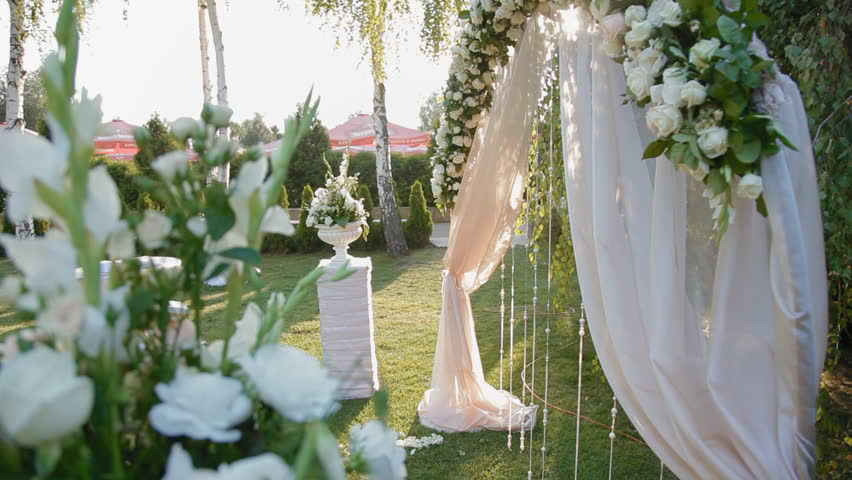 Stock video clip of wedding decoration of natural flowers open stock video clip of wedding decoration of natural flowers open space shutterstock junglespirit Image collections