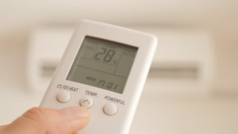 Cooling Down Room By Changing Stock Footage Video (100