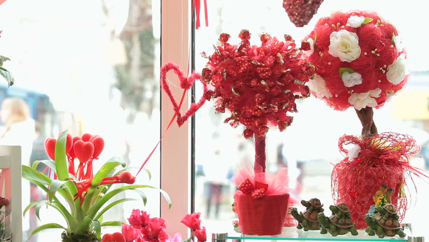valentine's day gift shop showcase stock footage video 9017704, Ideas