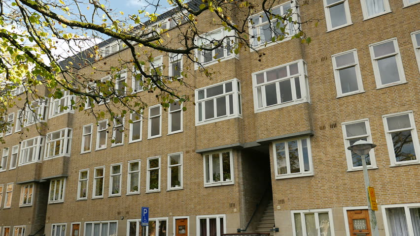 Amsterdam The Netherlands October 12 2017 Exterior Of Windows Apartment Building Anne Frank Grew Up In