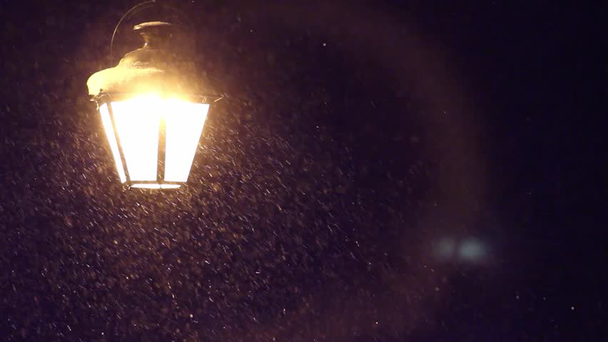 Night Winter Street Lamp With Falling Snow | Shutterstock HD Video #9065138