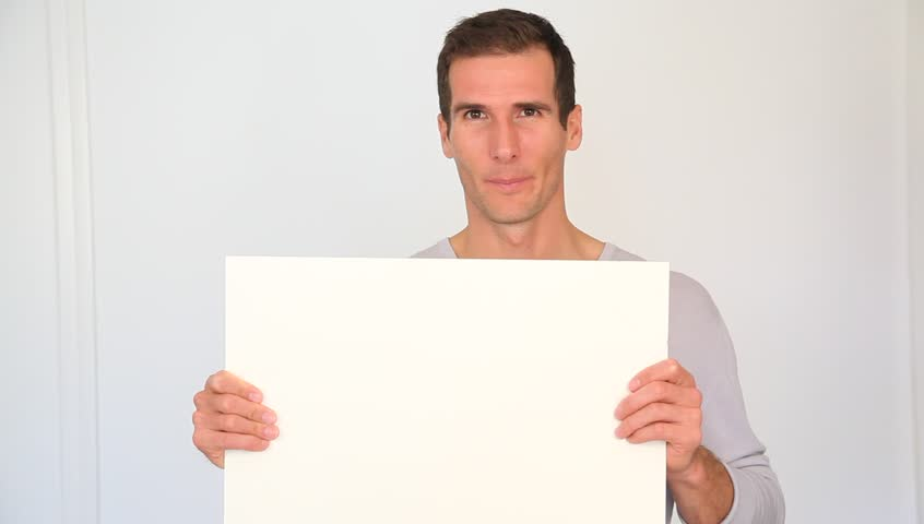 A man holding a paper for the registration of dating site in usa