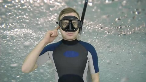 Diving sign- divemaster  shows sing  TROUBLE WITH EAR,  I CAN NOT EQUALIZE PRESSURE   ,also a available on the green screen all of diving sings from course (open water diver) 3 0F 3