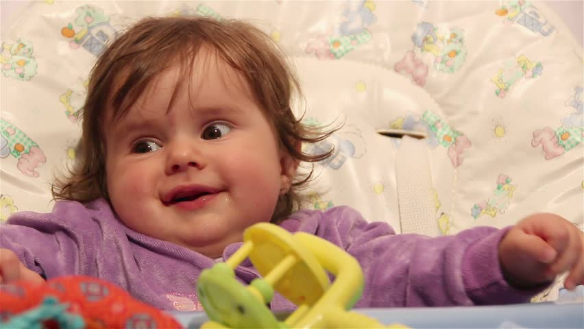 e9e921e6c05d Cute Baby Smiling in High Stock Footage Video (100% Royalty-free ...