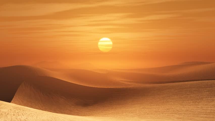 Desert sunset #919528