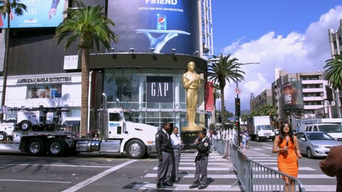 4K, UHD, LOS ANGELES, CALIFORNIA, USA - FEBRUARY 23, 2015: Interview at Oscar academy award nomination, Dolby Theater on February 23, 2015 in Los Angeles, California