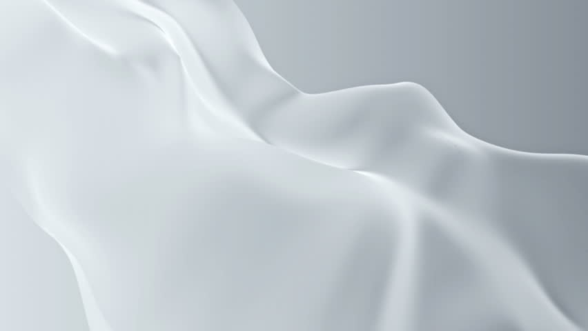 Abstract background waving with white silk to the wind. Clear backdrop of ripple white fabric. Beautiful abstraction of glowing cloth. | Shutterstock HD Video #9231974