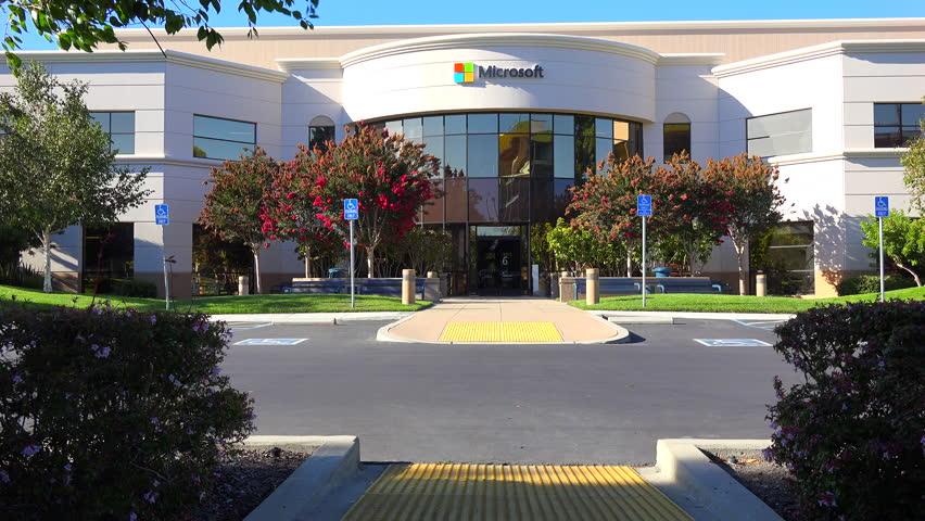 SILICON VALLEY, CALIFORNIA   CIRCA 2014   Establishing Shot Of Microsoft  Headquarters In Silicon Valley Part 89