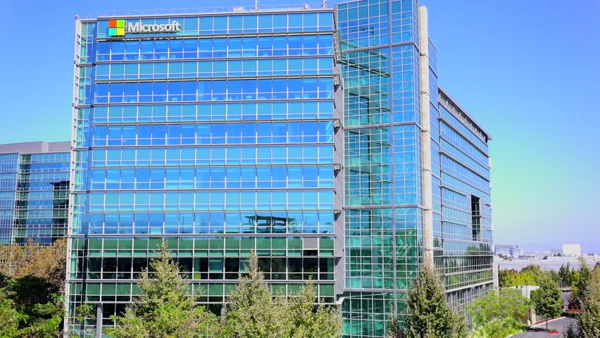 SILICON VALLEY, CALIFORNIA   CIRCA 2014   Establishing Shot Of Microsoft  Headquarters In Silicon Valley Part 44