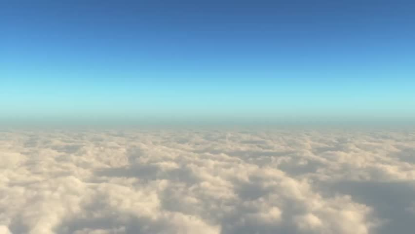 Stock Video Clip Of Camera Dives Into Expansive Cloud