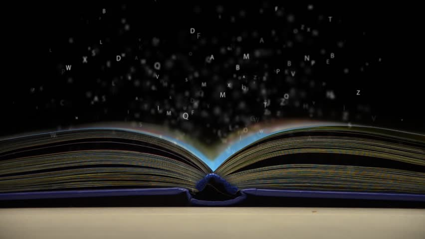 Letters flying out of an open book | Shutterstock HD Video #9251384