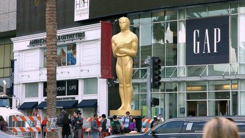 LOS ANGELES, CALIFORNIA, USA - FEBRUARY 23, 2015: Oscar academy award nomination at Dolby Theater on February 23, 2015 in Los Angeles, California, 4K, UHD