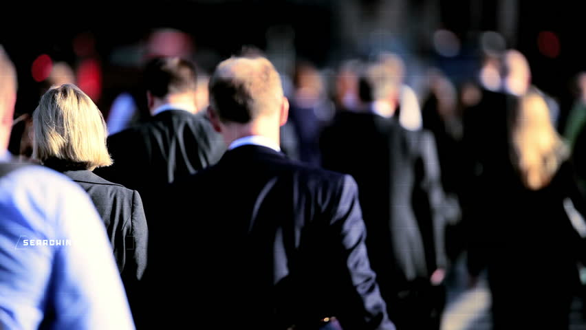 Businessman commuters financial motion graphics manager technology population | Shutterstock HD Video #9276602