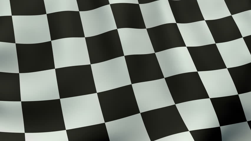 Seamlessly loopable waving checkered flag animation. 4K ultra high definition.