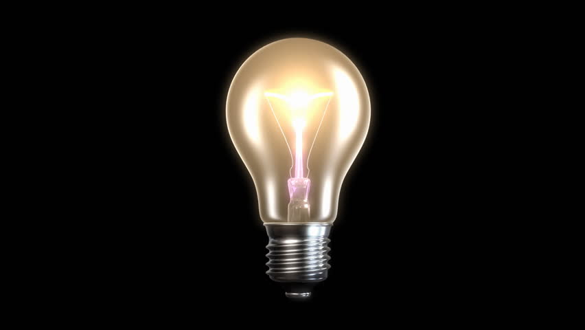 Exploding incandescent lamp without filling light, cg animation | Shutterstock HD Video #931144