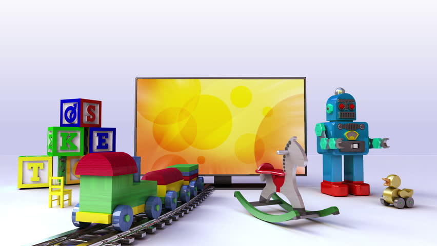 Kids, Toy, Children contents for Smart TV, Wide TV, Entertainment contents.(included screen alpha,background alpha)