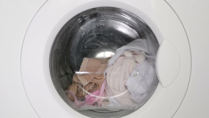 Rotation of linen in the washing machine | Shutterstock HD Video #9334154