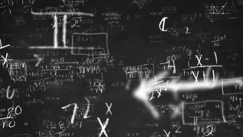 School Math Equations on Chalkboard Flyby Loop | Shutterstock HD Video #9334754