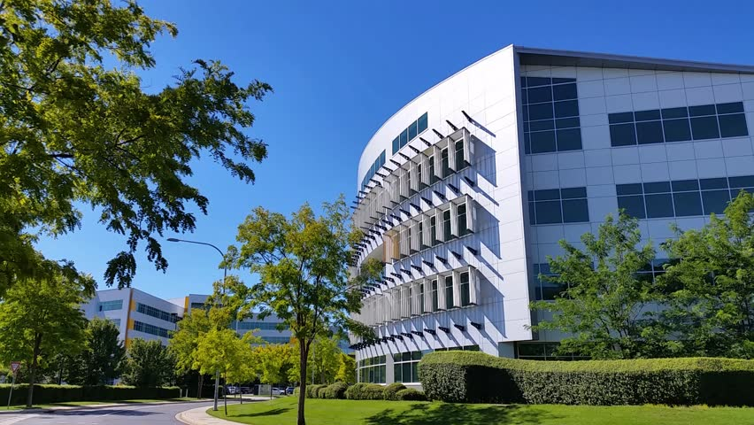 Modern Architecture Videos establishing shot modern architecture building business office
