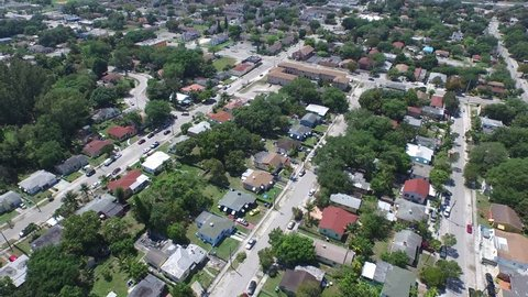 Aerial video of ANywhere USA Urban neighborhood
